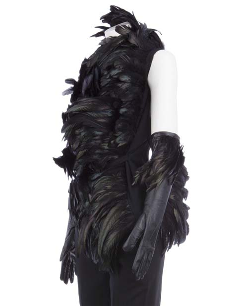 ANN-DEMEULEMEESTER-Feather-trim-gloves5